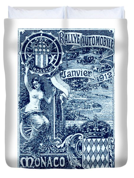 Duvet Cover featuring the painting 1912 Monaco Automobile Rally by Historic Image