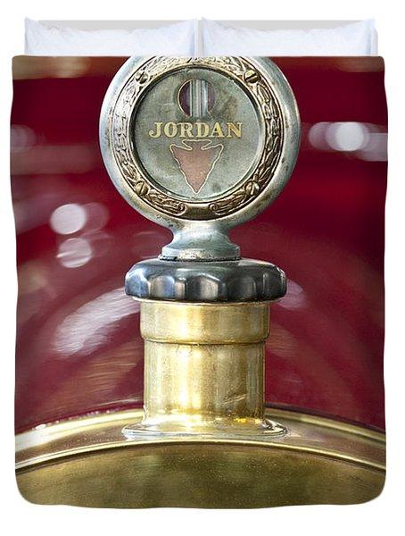 1913 Chalmers Model 18 Jordan Motometer Duvet Cover by Jill Reger