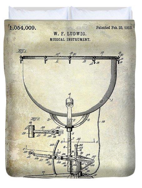 1913 Ludwig Drum Patent  Duvet Cover