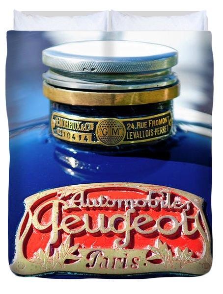 1914 Peugeot L45 Hood Ornaments Duvet Cover