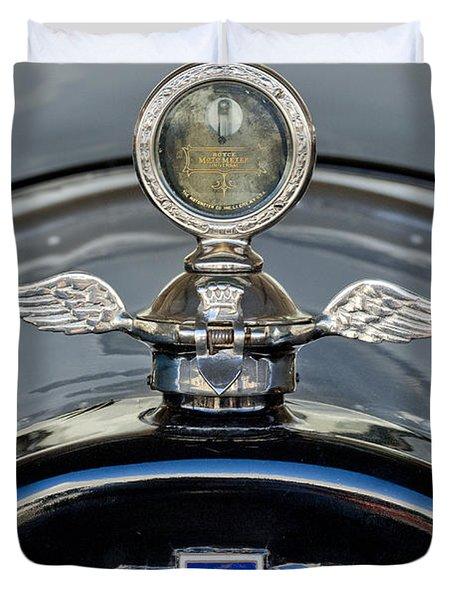 1915 Chevrolet Touring Hood Ornament 2 Duvet Cover by Jill Reger