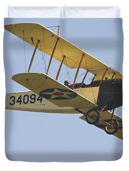 1917 Curtiss Jn-4d Jenny Flying Canvas Photo Poster Print Duvet Cover