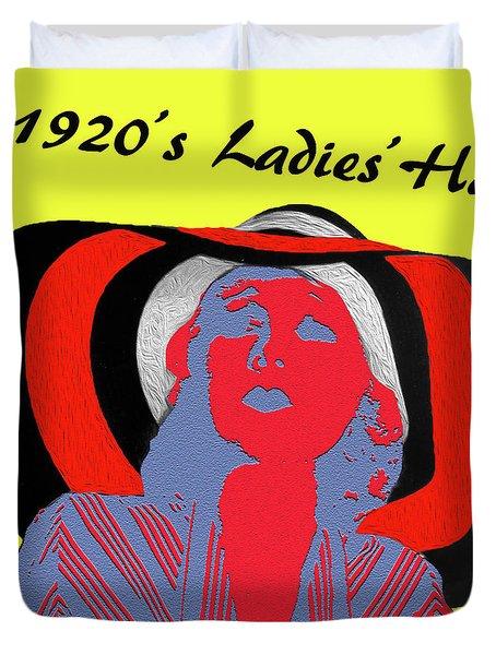 1920s Ladies Hat Duvet Cover by Bruce Iorio