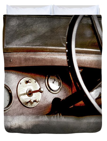 1921 Bentley Steering Wheel -0454ac Duvet Cover