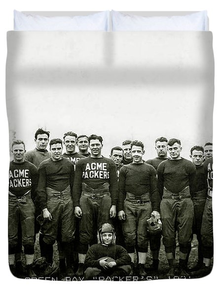 1921 Green Bay Packers Team Duvet Cover
