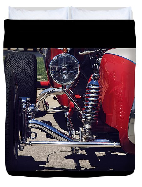 Duvet Cover featuring the photograph 1923 Ford T Bucket Street Rod by Toni Hopper