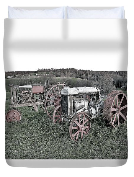 1923 Fordson Tractors Duvet Cover by Mark Allen