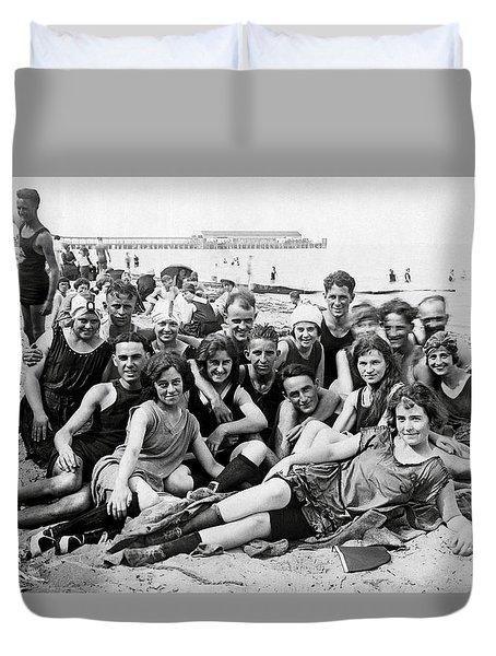 1925 Beach Party Duvet Cover