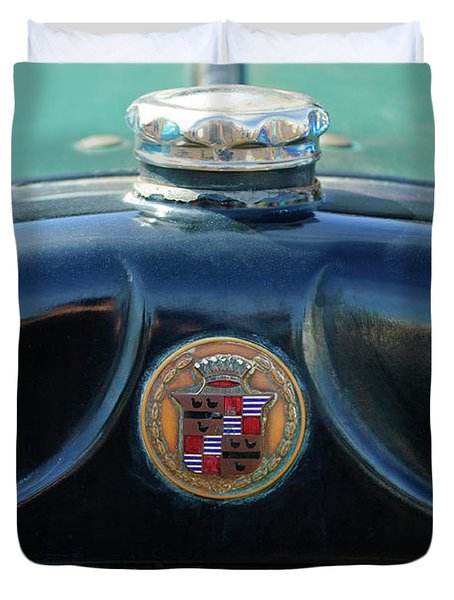 1925 Cadillac Hood Ornament And Emblem Duvet Cover by Jill Reger