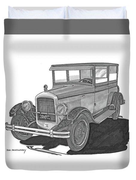 1925 Jewett 2 Door Touring Sedan Duvet Cover by Jack Pumphrey