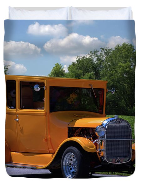 1926 Ford Hot Top T Hot Rod Duvet Cover