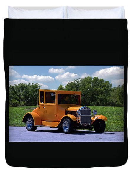 1926 Ford Hot Top T Hot Rod Duvet Cover by Tim McCullough