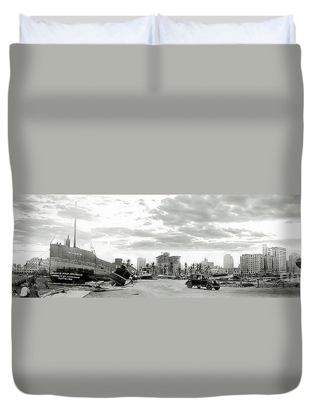 1926 Miami Hurricane  Duvet Cover by Jon Neidert