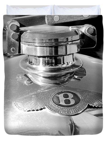 1927 Bentley Hood Ornament 2 Duvet Cover