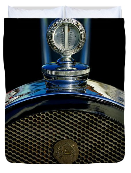 1927 Bugatti Replica Hood Ornament Duvet Cover