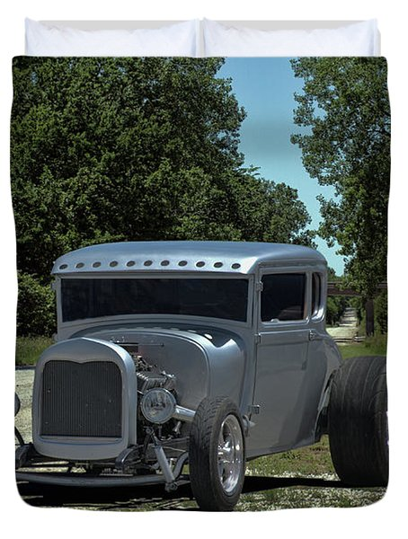1928 Ford Coupe Hot Rod Duvet Cover