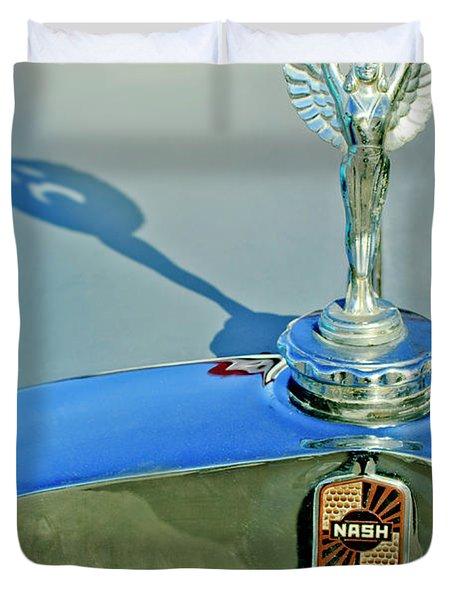 1928 Nash Coupe Hood Ornament 3 Duvet Cover
