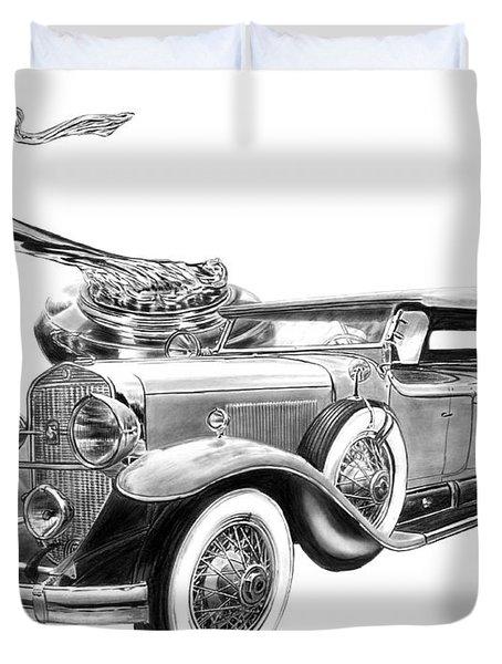 1929 Cadillac  Duvet Cover by Peter Piatt
