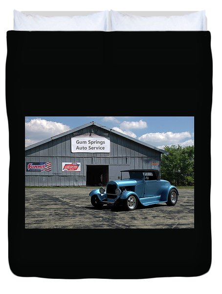 1929 Ford Roadster Duvet Cover