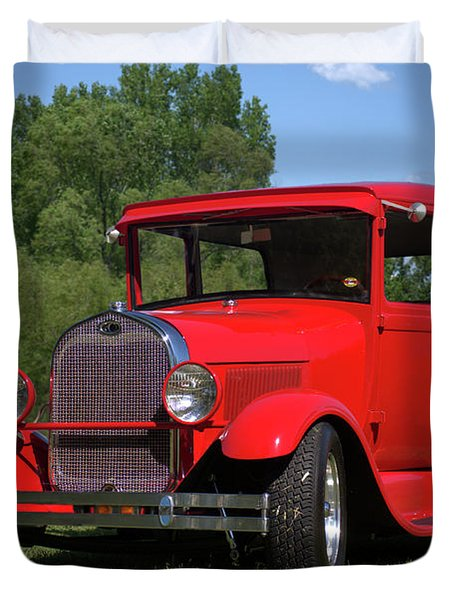 Duvet Cover featuring the photograph 1929 Ford Sedan Hot Rod by Tim McCullough