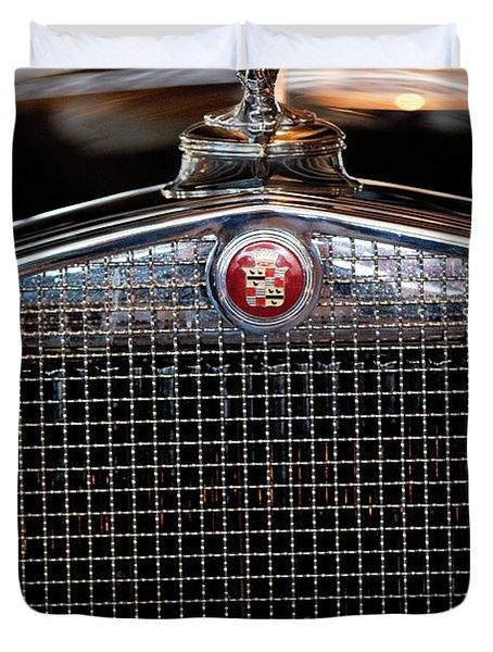 1930 Cadillac Roadster Hood Ornament 3 Duvet Cover by Jill Reger