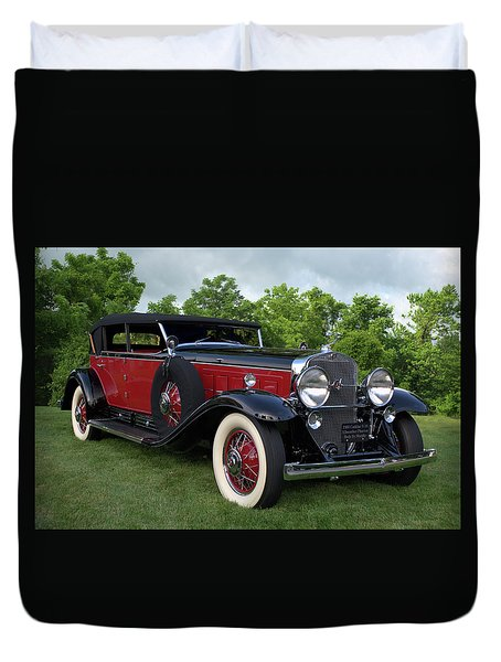 Duvet Cover featuring the photograph 1930 Cadillac V16 Allweather Phaeton by Tim McCullough