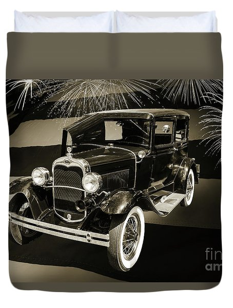 1930 Ford Model A Original Sedan 5538,16 Duvet Cover
