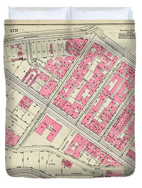 1930 Inwood Map  Duvet Cover