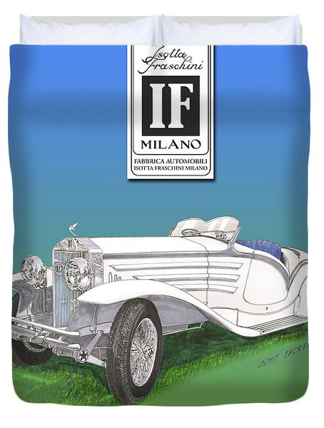 1930 Isotta Fraschini Tippo 8 A Flying Star Roadster Duvet Cover by Jack Pumphrey