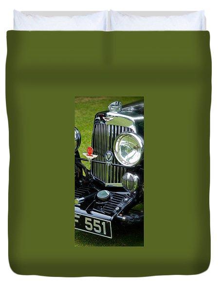 1930s Aston Martin Front Grille Detail Duvet Cover