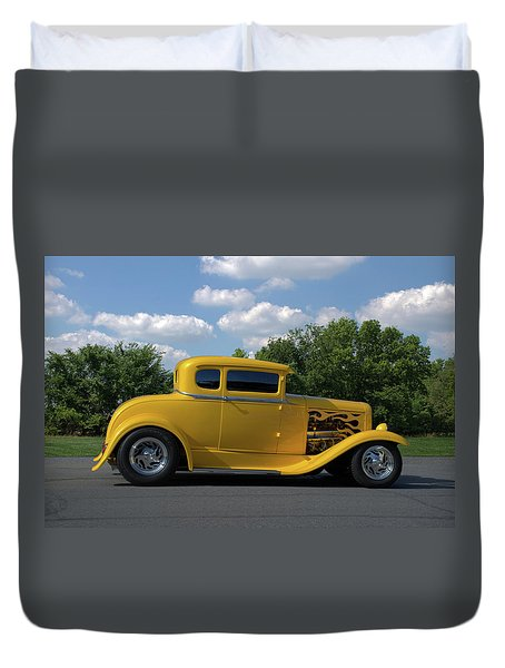 1931 Ford Coupe Hot Rod Duvet Cover