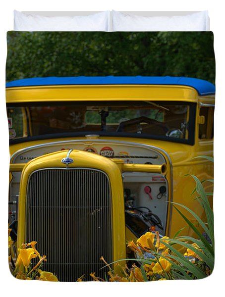 1931 Ford Sedan Hot Rod Duvet Cover