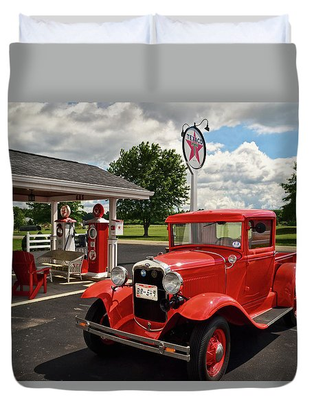 1931 Ford Truck  001 Duvet Cover by George Bostian