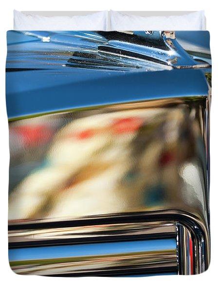 1931 Marmon Sixteen Coupe Hood Ornament Duvet Cover