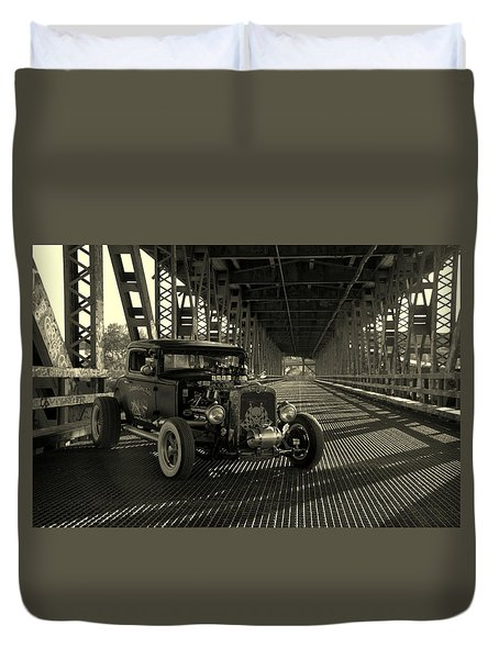 1931 Nash Coupe Rat Rod Duvet Cover