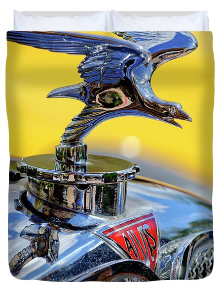 1932 Alvis Hood Ornament Duvet Cover by Jill Reger