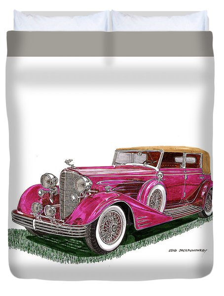 1932 Cadillac All Weather Phaeton V 16 Duvet Cover by Jack Pumphrey