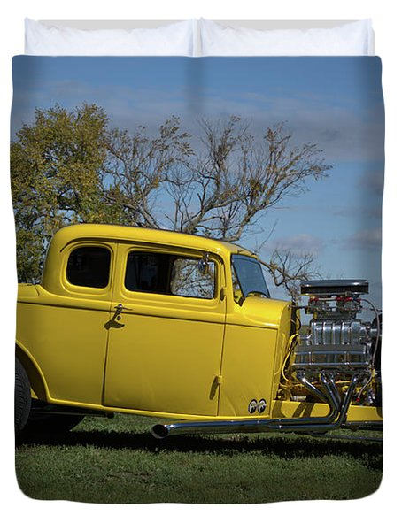 1932 Ford 5 Window Coupe Hot Rod Duvet Cover
