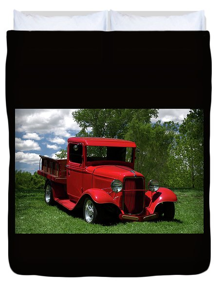 1932 Ford Flatbed Pickup Duvet Cover by Tim McCullough