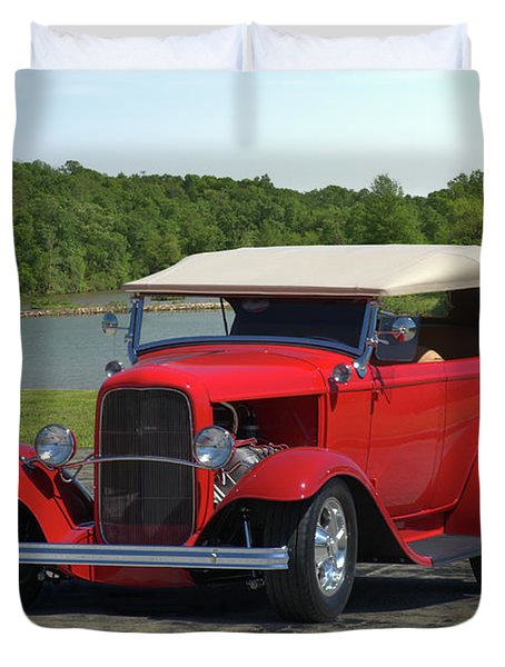Duvet Cover featuring the photograph 1932 Ford Phaeton Hot Rod by Tim McCullough