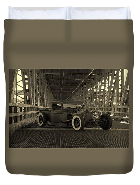 1932 Ford Pickup Rat Rod Duvet Cover