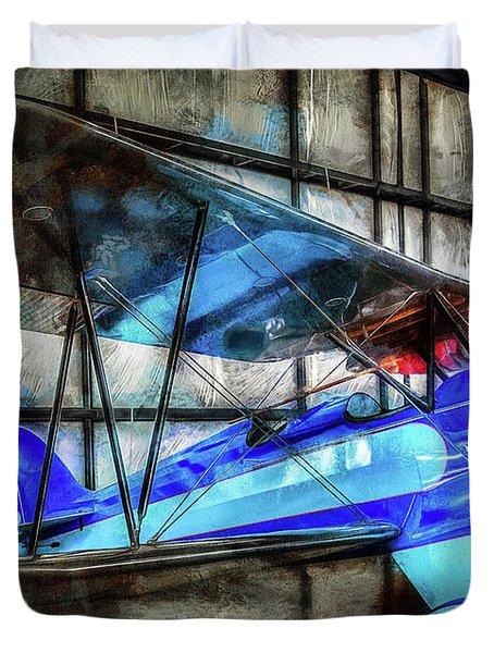 1932 Waco Biplane Duvet Cover