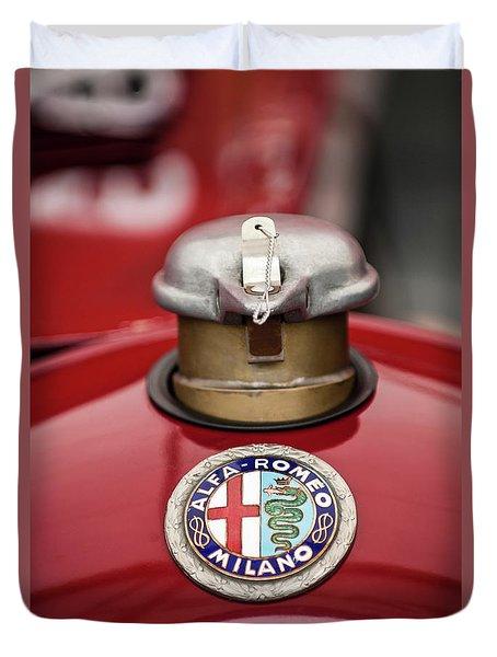 1934 Alfa Romeo Tipo B Hood Emblem Duvet Cover by Jill Reger