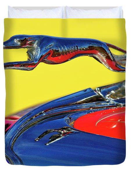 1934 Ford Hood Ornament Duvet Cover