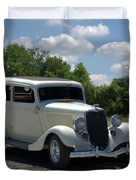 Duvet Cover featuring the photograph 1934 Ford Sedan Hot Rod by Tim McCullough