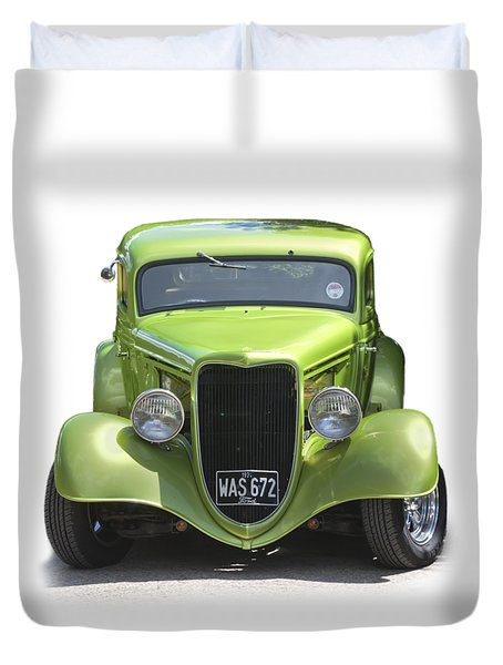 1934 Ford Street Hot Rod On A Transparent Background Duvet Cover