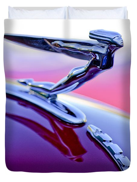1935 Auburn Hood Ornament 4 Duvet Cover by Jill Reger
