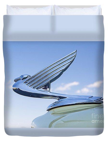 1935 Chevrolet Hoot Ornament Duvet Cover