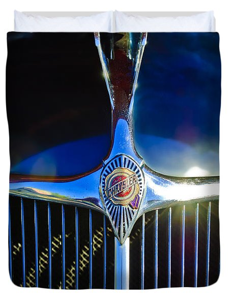 1935 Chrysler Hood Ornament 2 Duvet Cover by Jill Reger