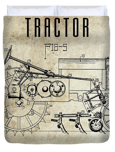 1936 Tractor Patent Duvet Cover